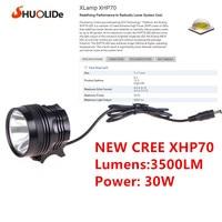 USB Rechargeable CREE XHP70 Bicycle Light Lamp Headlight 18650 Head Lamp Lampe Frontale Farol Bike Linterna