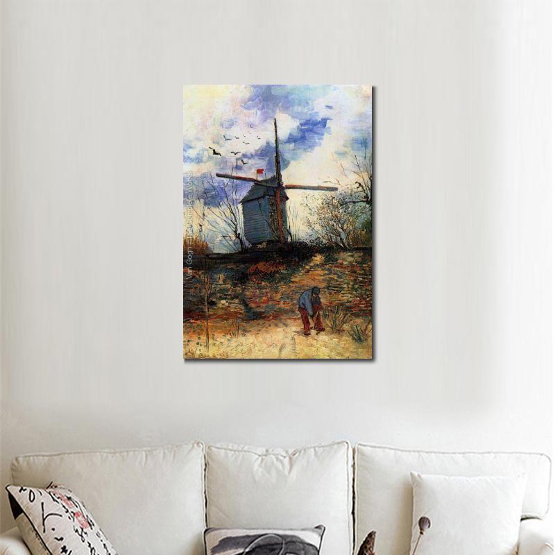 High quality Vincent Van Gogh modern art Le Moulin de la Galette I ...