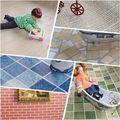 Revestimiento de Materiales de Construcción de casa de muñecas de Papel Tapiz de Colores Tabla de Piso de Baldosas de Piso de Casa de Muñecas Decoración
