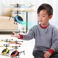 Мини Радиоуправляемый Дрон Летающий вертолет летательный аппарат подвеска индукционный вертолет детская игрушка светодиодный светильник...