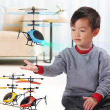 Kids Toys Mini Drone Helicopter Aircraft Suspension Induction Helicopters LED Li