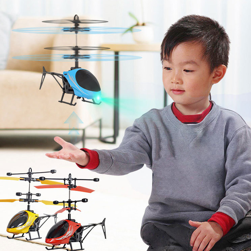 Mini RC Drone Fly RC Helicopter Aircraft Suspension Induction Helicopter Kids Toy LED Light Remote Control Toys for Children(China)