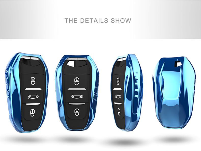 SUKO Auto Accessories Car key case Soft TPU Smart Key Cover Remote Key shell fit for Peugeot 4008 5008 Citroen C4 C4L C6 C3-XR модель раллийного автомобиля himoto e10xr 4wd rtr масштаб 1 10 2 4g