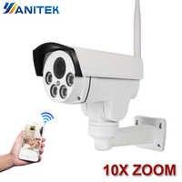 10X Zoom Ottico Wifi Via IP PTZ Macchina Fotografica Della Pallottola Esterna 5X2 MP 1080p Wireless Notturna di IR Onvif SD Card Audio CCTV IP Cam ONVIF