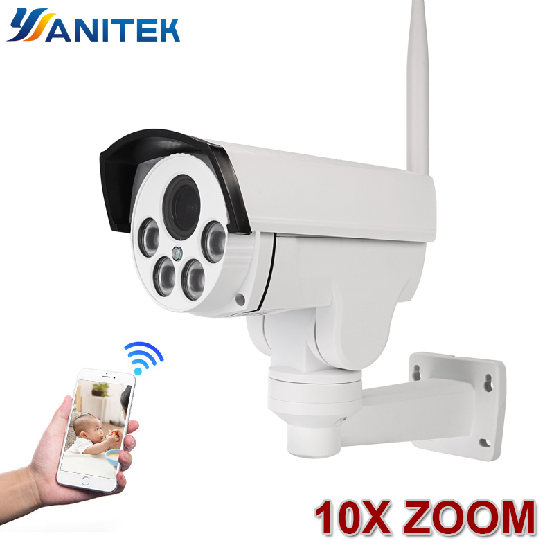 10X Zoom optique Wifi rue IP caméra PTZ balle extérieure 5X2 MP 1080 p sans fil IR nuit Onvif carte SD Audio CCTV IP caméra ONVIF