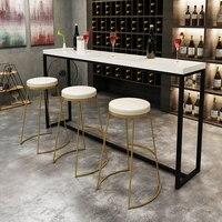 45 cm/65 cm/75 cm Nórdico ouro cadeira alta fezes bar fezes cadeira bar criativo xícara de café simples jantando a cadeira de ferro forjado