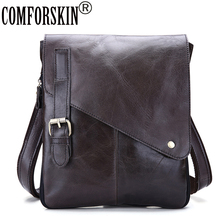 COMFORSKIN Mochila Masculina Guaranteed 100% Genuine Leather Retro Men Messenger Bags Hot Brand Designer Male Cross-body