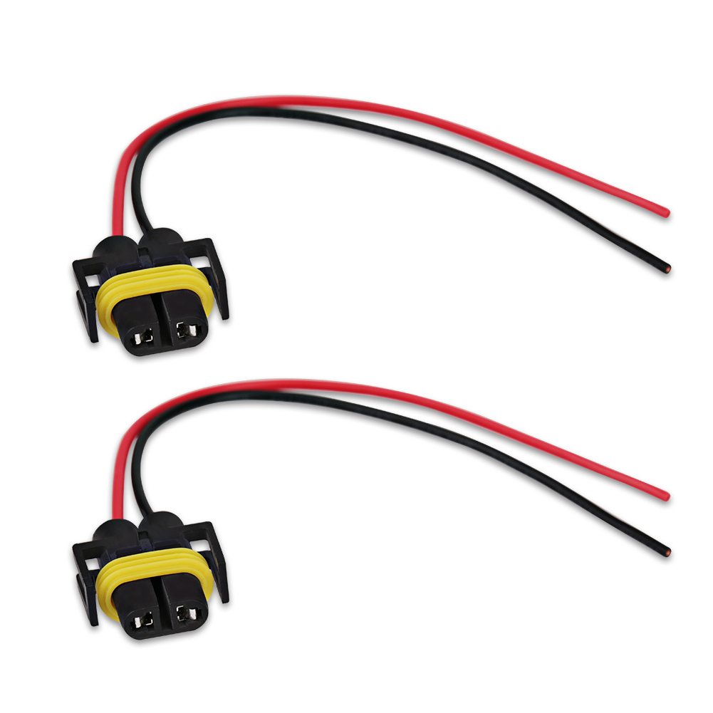 2pcs power cord 9005 HB3 9006 HB4 H10 12V 18CM Female Adapter Wiring Harness  Sockets Cable for Headlight Fog LED Light Bulb-in Cables, Adapters &  Sockets ...
