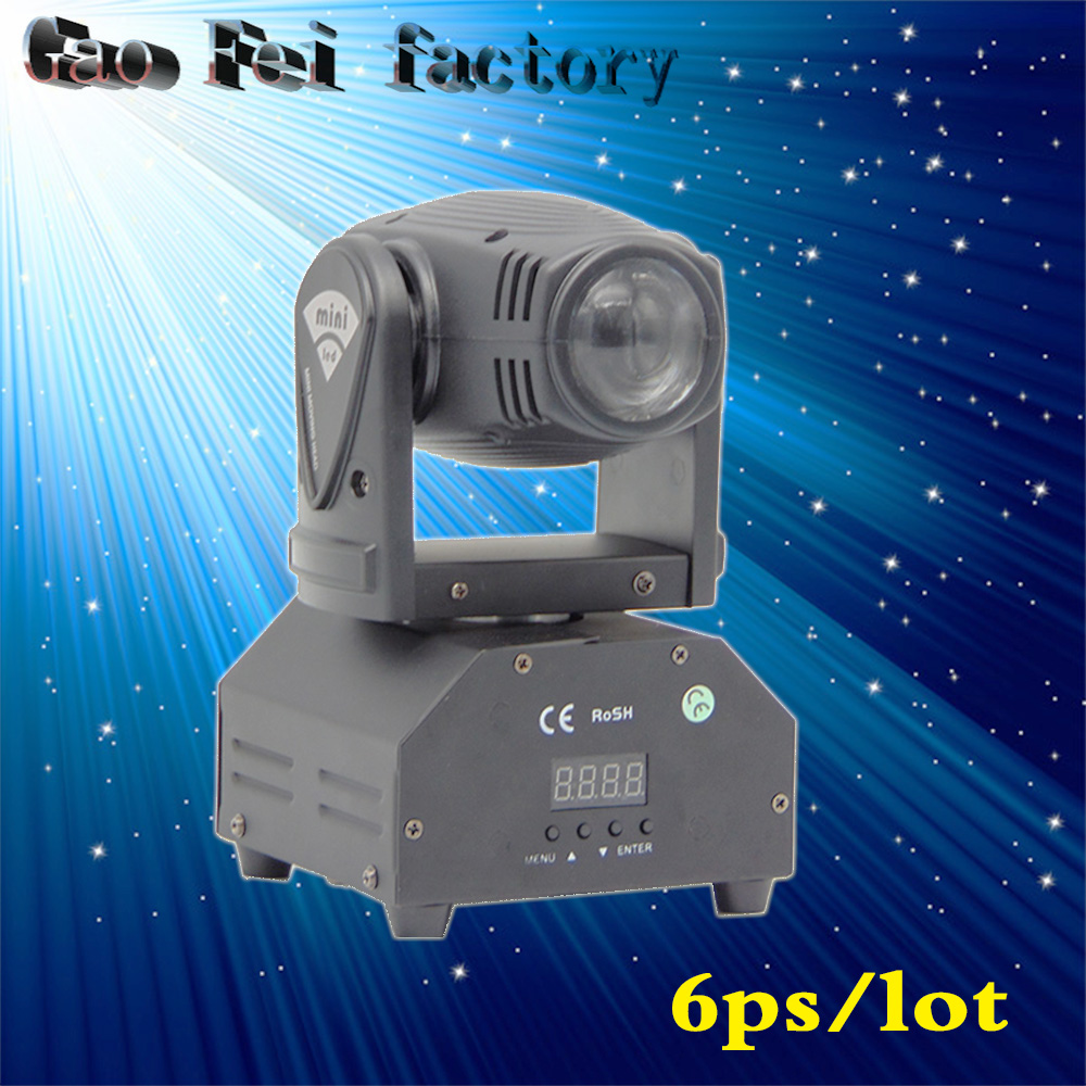 все цены на 6pcs/lot RGBW led Moving Head Light/10W Mini Beam/Led disco Lights/night club decor beam/ laser/DMX stage lighting онлайн