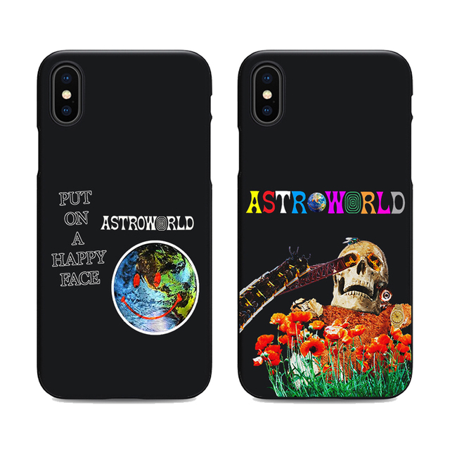 3fa190ff4f7 travis scott phone cases astroworld sicko mode for iPhone X 6 7 8 plus 5 5s  6s se for Apple soft Silicone black cover
