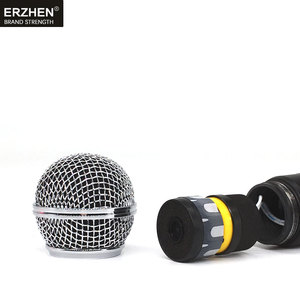 Image 5 - handheld microphone wireless systems UHF4 channel lapel condenser headset karaoke speaker studio for sale SM58 mic for singer