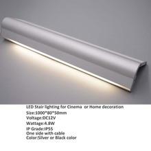 4pcs/lot stairnose aluminum profile for led stair lighting Milky PC