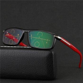 80eae378ac Progresiva gafas multifocales transición gafas de sol fotocromáticos gafas  de lectura hombres puntos lector Cerca Lejos vista dioptrías