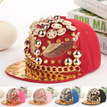 new snapback hats new design gold spiked rivets wings shaped hip hop men snapback caps brand women hiphop baseball cap