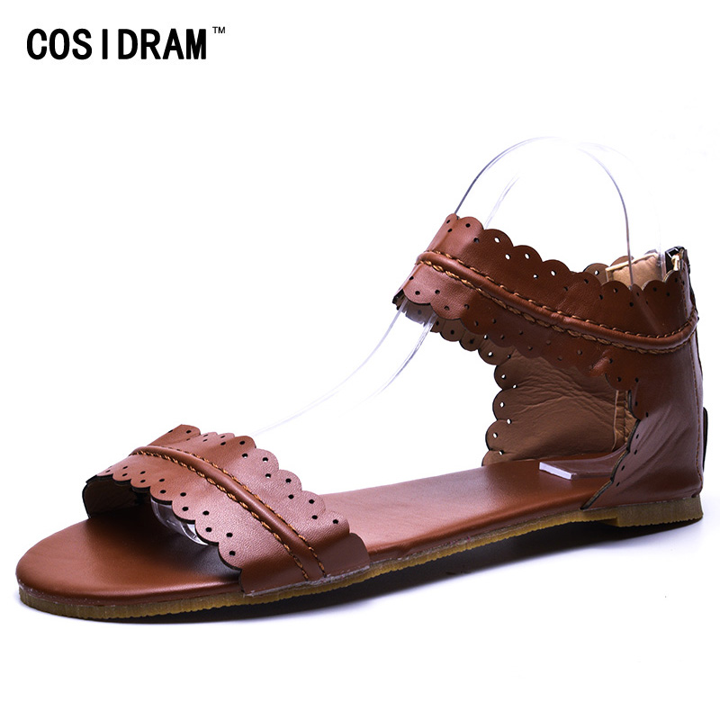 021d7f87dae29 COSIDRAM Fashion Female Sandals New 2018 Summer Hot Sale Beach Sandals  Comfortable Flat Shoes for Woman Plus Size 42 43 SHE 006-in Women s Sandals  from ...