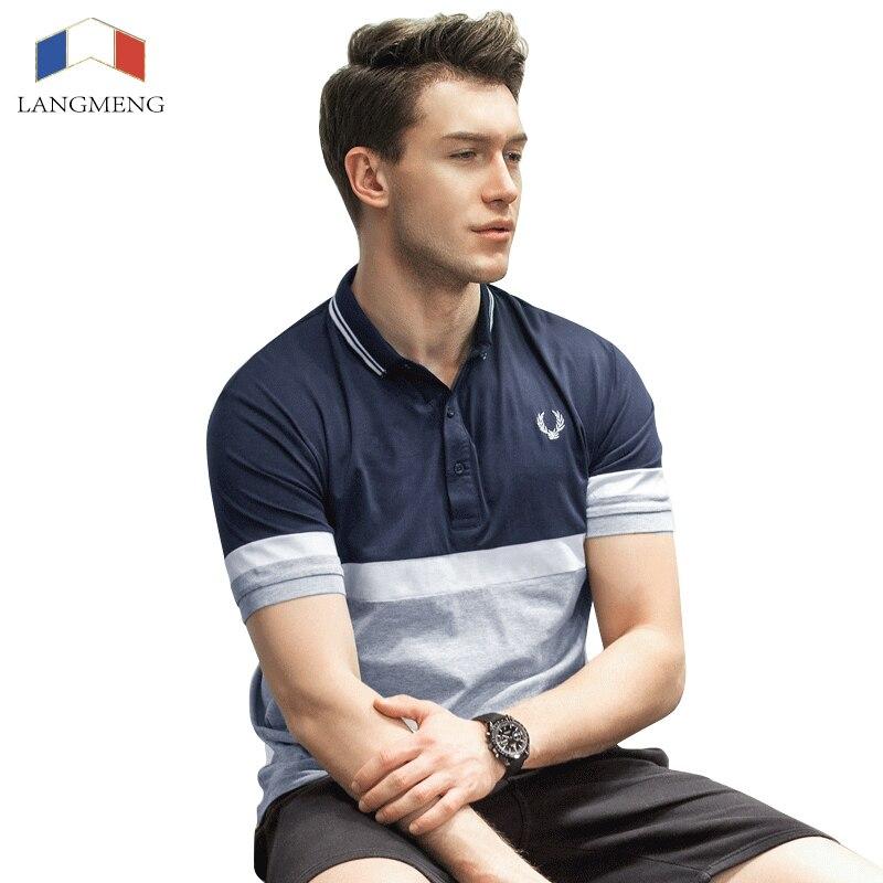 Langmeng 2017 New Brand Men Polo Shirt Mens Polo Shirts