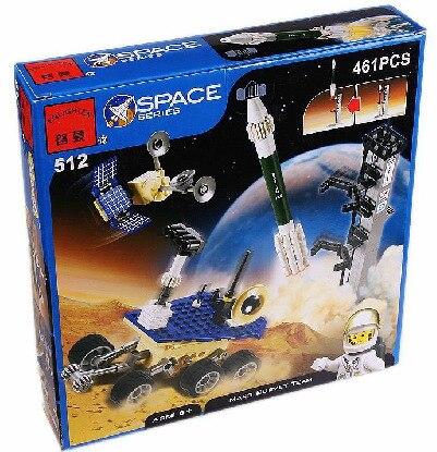 Просвещения Модель Строительство комплекты совместимые с лего городского пространства Марс обследования 617 3D блоки Развивающие игрушки хо... ...