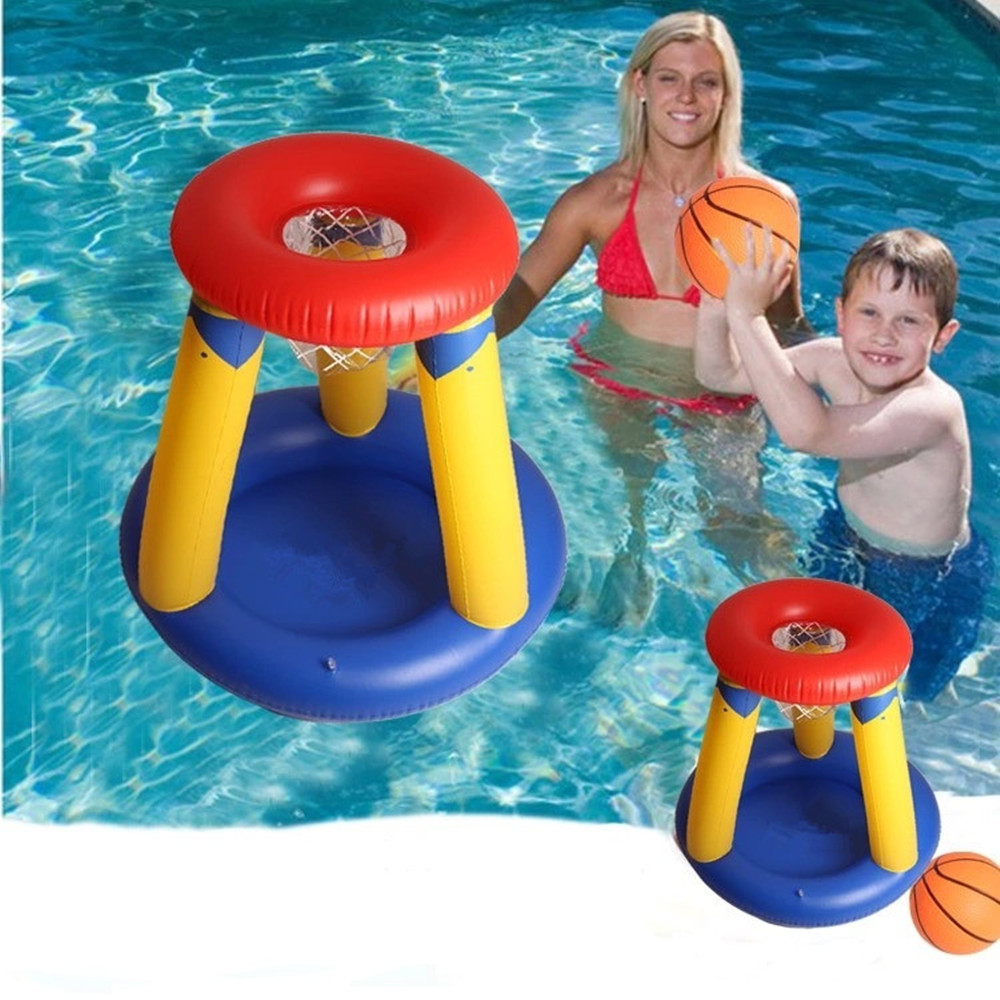 New Water Toys Inflatable Swimming Basketball Stand Children Grass Basketball Hoop Kids Summer