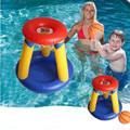 New Water Toys Inflatable Swimming Basketball Stand Children Grass Basketball Hoop Kids Summer Swimming Pool pitching Game Toys