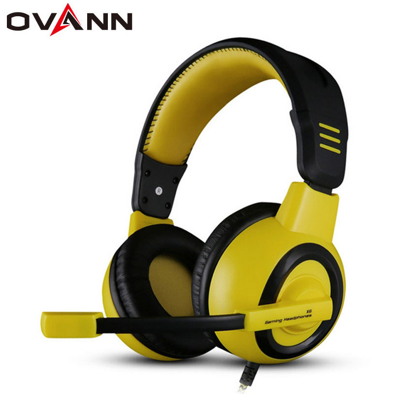 Ovann X6 Gaming Headset Hifi Headphones Professional DJ Headset With Mic Bass Noise-Isolating Stereo Earphones for PC Computer