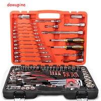 Инструменты для ремонта автомобилей комплекты Комбинации инструмент набор ключей 121 шт. глава партии, собачка шестигранного ключа Отвертка