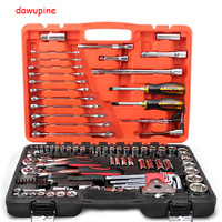 Car Repair Tool Sets Combination Tool Wrench Set 121 PCS Batch Head Ratchet Pawl Socket Spanner Screwdriver