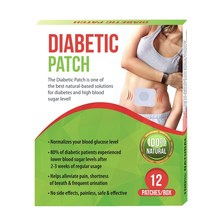 12 pieces/box Herbal Diabetic Patch For Lowering Blood Sugar