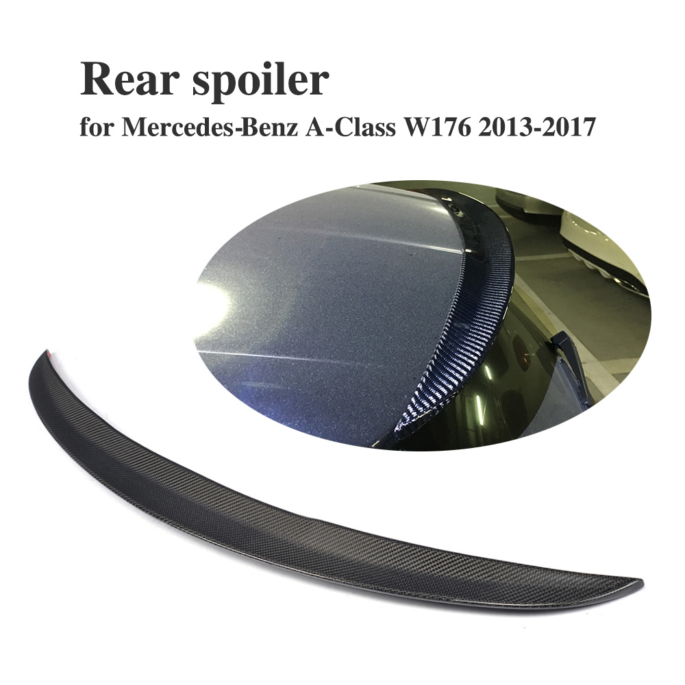 Carbon Fiber /frp primer Rear Trunk Window Lip Spoiler for Mercedes Benz A-Class W176 A180 A200 AMG 13-17 HatchbackCarbon Fiber /frp primer Rear Trunk Window Lip Spoiler for Mercedes Benz A-Class W176 A180 A200 AMG 13-17 Hatchback