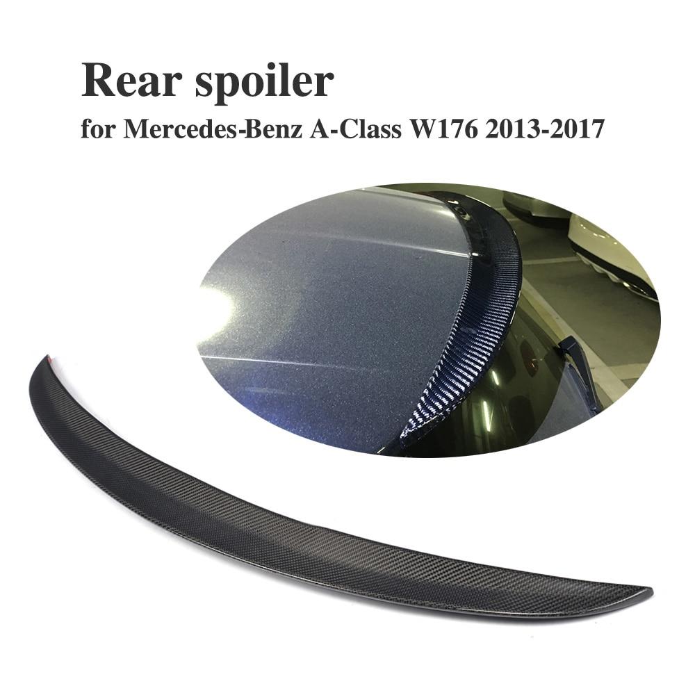 Carbon Fiber /frp primer Rear Trunk Window Lip Spoiler for Mercedes Benz A-Class W176 A180 A200 AMG 13-17 HatchbackCarbon Fiber /frp primer Rear Trunk Window Lip Spoiler for Mercedes Benz A-Class W176 A180 A200 AMG 13-17 Hatchback