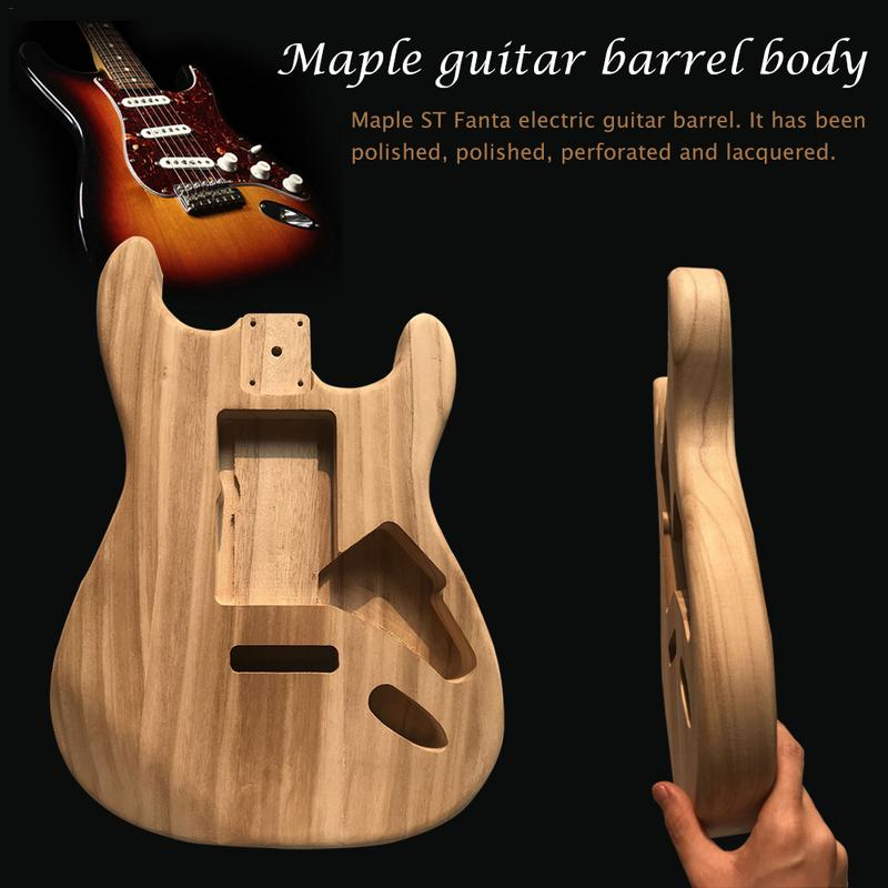 Wood Type Electric Guitar Accessories ST Electric Guitar Barrel Material Maple Guitar Barrel BodyWood Type Electric Guitar Accessories ST Electric Guitar Barrel Material Maple Guitar Barrel Body