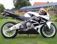 Hot Sales,Sport Motorcycle Fairing For Honda F5 CBR 600RR 2005 2006 CBR600RR 05 06 White Black ABS Body Kit (Injection molding)