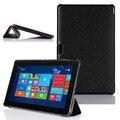 """Alta Qualidade Ultra Slim Tri-Fold Fique Capa de Couro Da Pele Shell Capa Para Dell Venue Pro 11 5130 10.8 """"Tablet PC"""
