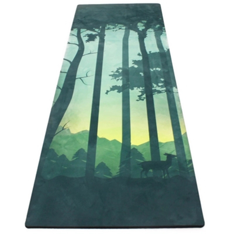 High Quality 183cm*66cm*4mm Natural Rubber+Suede Non-Slip Sweat Absorption Exercise Fitness Mat Yoga Mat Tapete Yoga chastep natural pvc yoga mat anti slip sweat absorption 183 61cm 6mm yoga pad fitness gym pilates sports exercise pad yoga mats