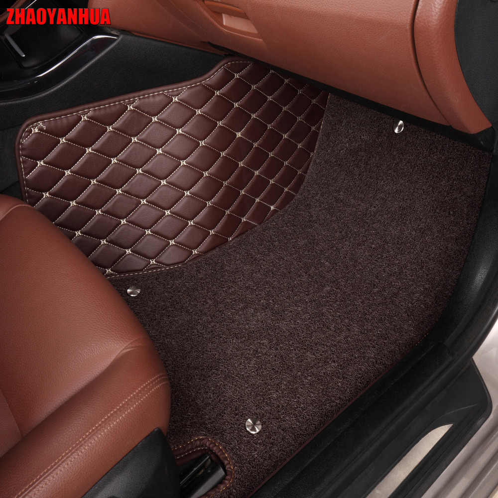 """ZHAOYANHUA Car floor mats for Mitsubishi Lancer Galant ASX Pajero sport V73 V93 5D car styling all weather carpet floor liner """