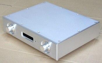 Silver Full Aluminum AK4497 DAC Decoder Chassis Amplifier Enclosure Preamp box DIY Case