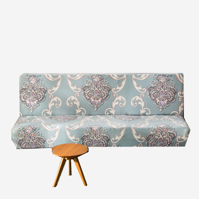 Attractive Europe Flowers Armless Couch Sofa Covers For Living Room Polyester Removable  Machine Washable Slipcovers For Home