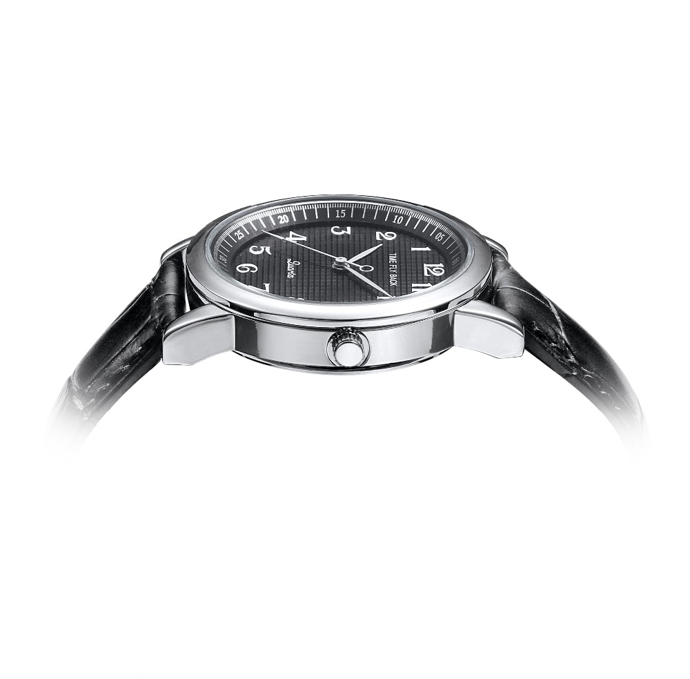 Image 4 - Quartz Watch Men Leather Steel Counterclockwise Backward Scale Oil Embossing Dial Waterproof Reverse Watch Boy Student Men WatchQuartz Watches   -