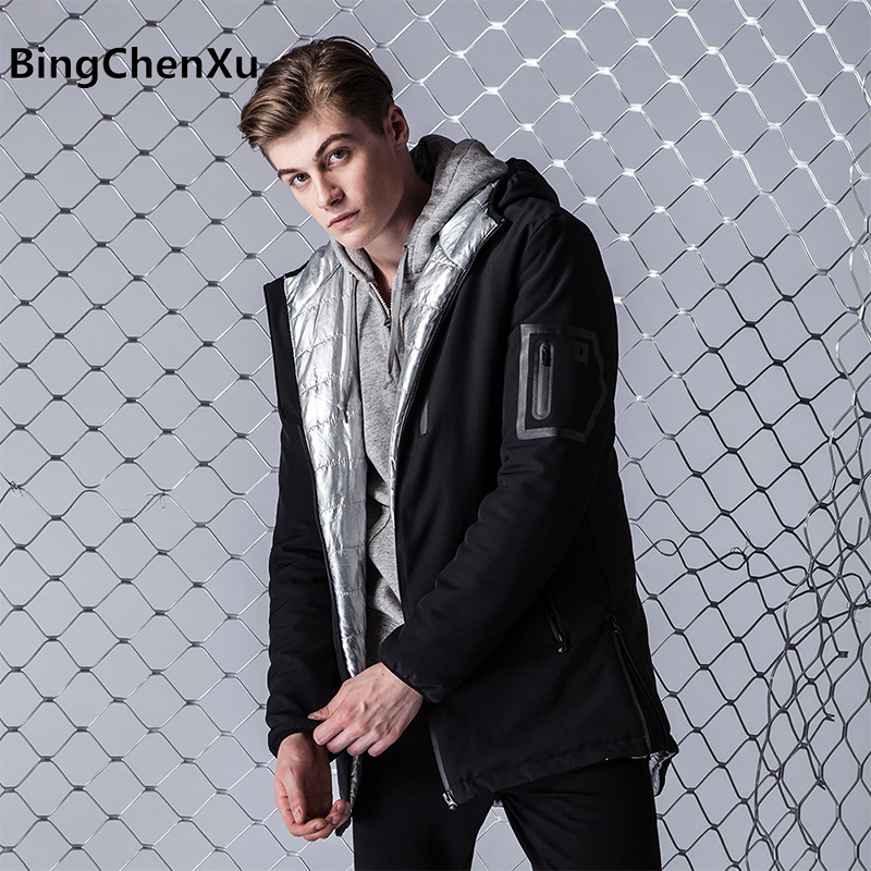 2017 Jacket Men's Parkas Thick Hooded Coats Men Fashion Warm Casual Jackets Male Outerwear Double sizes wear Brand Clothing 583