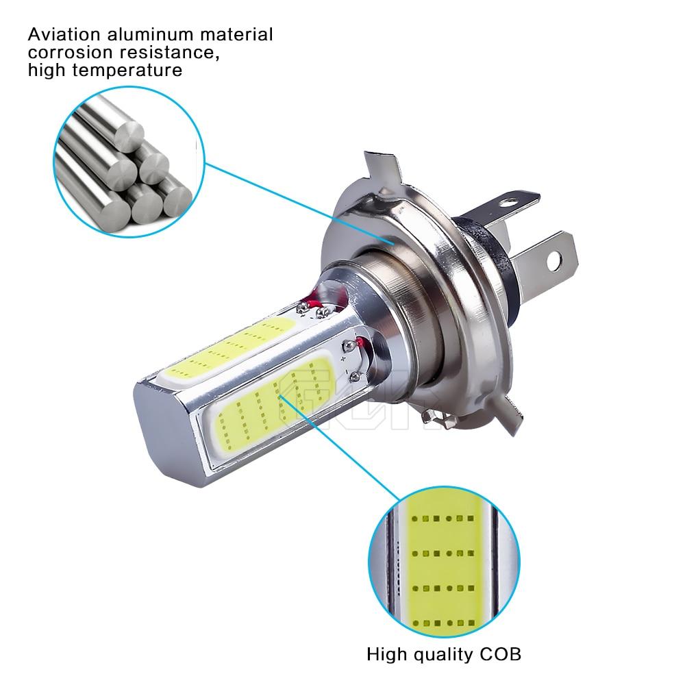 10X Автомобильный светодиодный H4 H7 H11 9006 9005 cob высокой Мощность противотуманных фар 20 Вт H4 COB светодиодный автомобиль мотоцикл лампа светодиодная подсветка для машины противотуманная фара