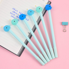 4pcs blue ocean fish gel pen Cute whale shark black color ink pens 0.5mm kids gift Stationery items Office School supplies FB483