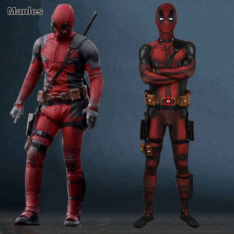 Cosplay Deadpool 2 Costume Suit Clothing Wade Wilson Men A Grandfather's Daddle Jumpsuit Fantasy Adult Halloween Superhero Movie-in Movie & TV costumes from Novelty & Special Use