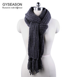 GYSeason Winter Scarf For Knitted Long Female Lady Scarf