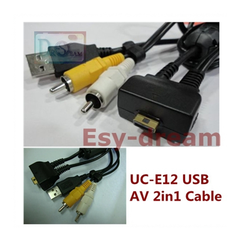 UC E12 Uc-e12 USB Daten AV Audio Video 2in1 Blei Kabel Für Nikon Digitalkamera S5 S6 S7 S8 S9 S51 S50c S50 S550 S700