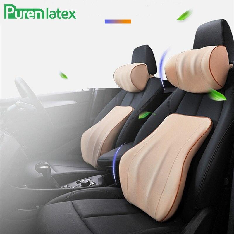 Purenlatex Pillow Support-Waist Head-Rest Orthopedic-Cushion Memory-Foam Protect Spine