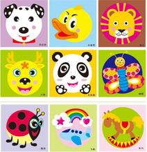 DIY Paper Plate Art Craft Puzzle Stickers Cartoon Animals Creative Gift Boxes Kindergarten Kids Learning Educational  sc 1 st  AliExpress.com & Buy paper plate craft and get free shipping on AliExpress.com