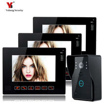 Yobang Security Touch Keypad 9inch Wired Video Intercom Doorbell phone Rainproof Outdoor Camera Video Door Phone For Apartment