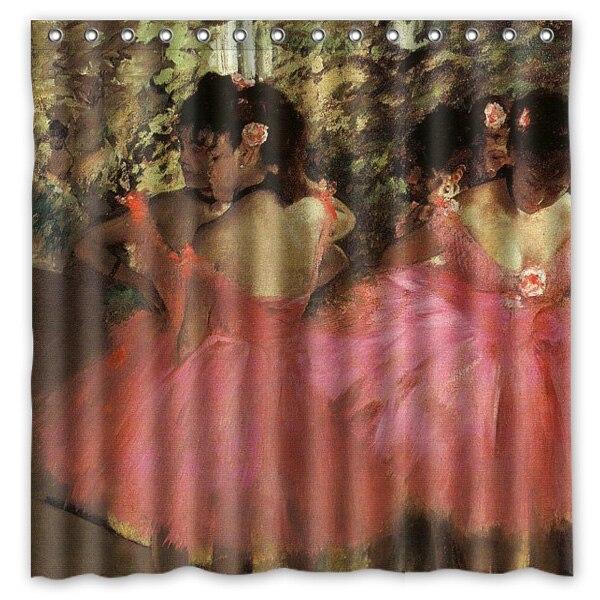 180x180cm Waterproof Fabric Edgar Degas Ballet Dance Painting Mildew Proof Shower Curtain Bathroom Curtains Free Shipping