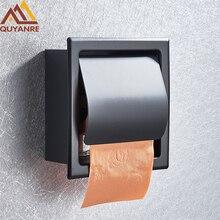 Матовый черный хромированный держатель для туалетной бумаги Quyanre, нержавеющая сталь, 304 рулонов бумаги, бумажная коробка, портмоне для туалетной бумаги, бумажная коробка для бумажных салфеток