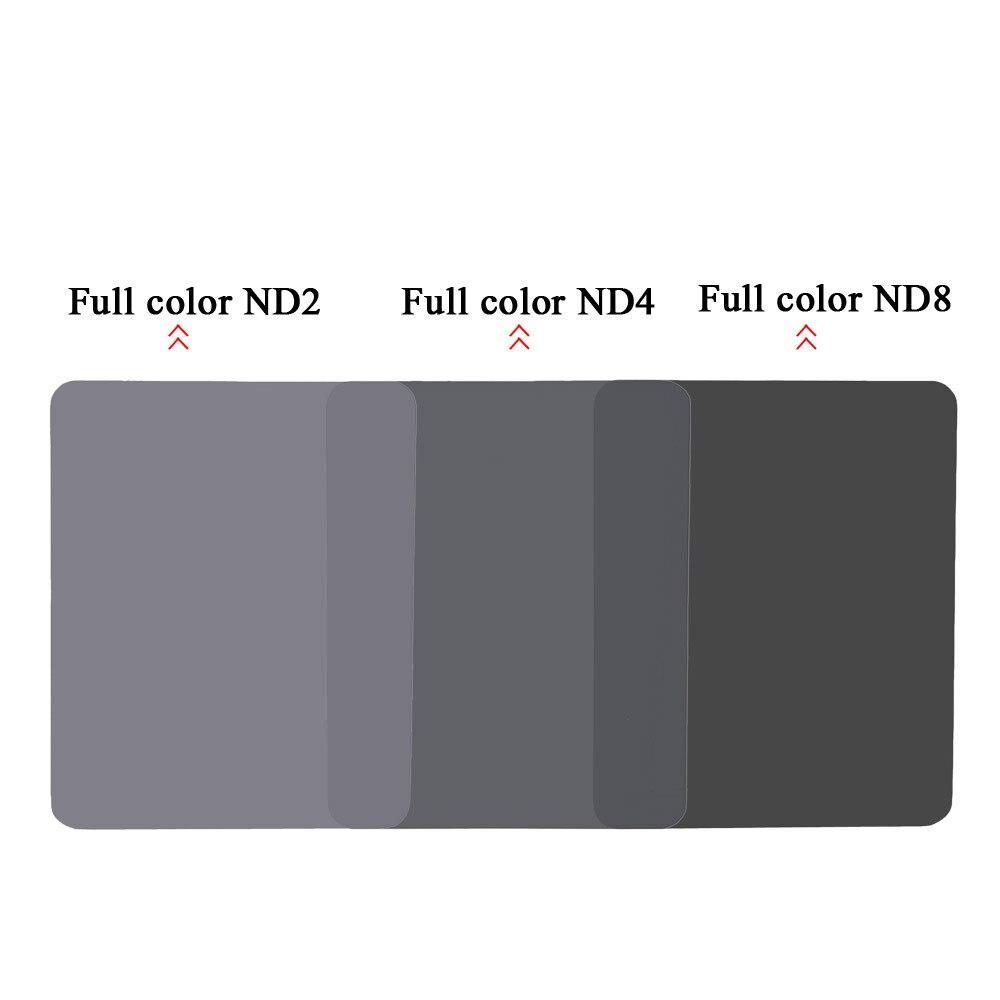 140mm*100mm Neutral Density Full Color ND 2 4 8 Square Filter for Cokin Z Series square resin full color filter for dslr blue