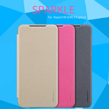 For Xiaomi Mi 9 Explore Case Cover NILLKIN Sparkle PU Leather Cases Flip Book Style Cell Phone Bag